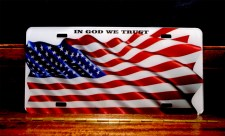 In God We Trust - American Flag - Arcylic License Plate