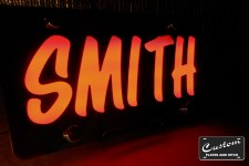 THE LED LITEUP LASERPLATE with SMITH