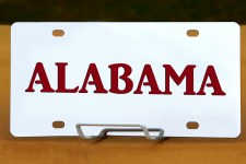 Alabama State Plate Clean Look
