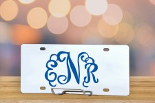 Personalized Interlocking Monogram License Plate Logo