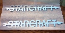 Laser Cut Stainless Steel StarCraft Emblems