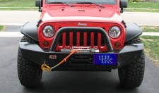 University of Kentucky Blue Arcylic License Plate on a Jeep