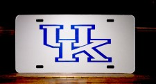 University of Kentucky Silver Arcylic License Plate